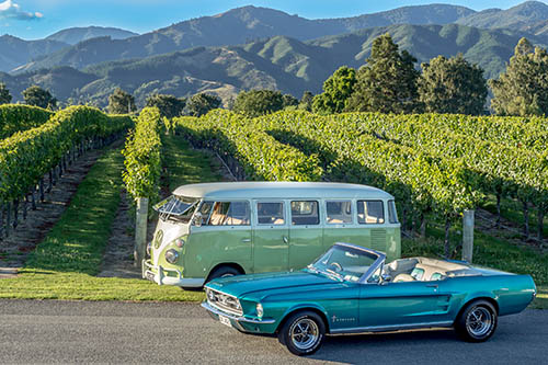marlborough wine tour classic cars